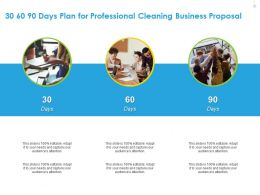 30 60 90 Days Plan For Professional Cleaning Business Proposal Ppt Gallery