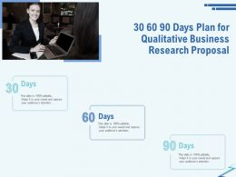 30 60 90 Days Plan For Qualitative Business Research Proposal Ppt Gallery