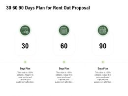 30 60 90 Days Plan For Rent Out Proposal Ppt Powerpoint Presentation Ideas Templates
