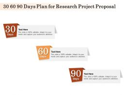 30 60 90 Days Plan For Research Project Proposal Ppt Powerpoint Presentation Smartart