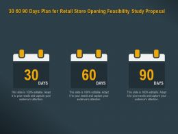 30 60 90 Days Plan For Retail Store Opening Feasibility Study Proposal Ppt Powerpoint File