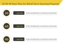 30 60 90 Days Plan For Retail Store Opening Proposal Ppt Template