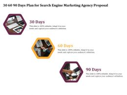 30 60 90 Days Plan For Search Engine Marketing Agency Proposal Ppt File Format Ideas
