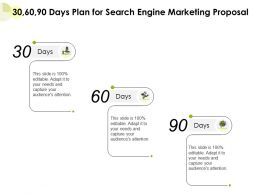 30 60 90 Days Plan For Search Engine Marketing Proposal Ppt Powerpoint Presentation Example