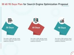30 60 90 Days Plan For Search Engine Optimization Proposal Ppt Powerpoint Presentation Example