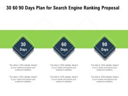 30 60 90 Days Plan For Search Engine Ranking Proposal Editable Ppt Powerpoint Presentation Sample
