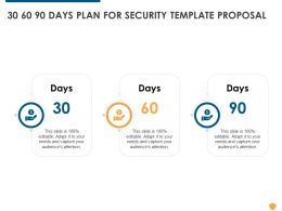 30 60 90 Days Plan For Security Template Proposal Ppt Powerpoint Presentation Portfolio Tips