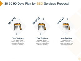 30 60 90 Days Plan For SEO Services Proposal Ppt Powerpoint Presentation Infographic