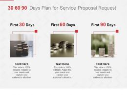 30 60 90 Days Plan For Service Proposal Request Ppt Powerpoint Outline
