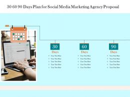30 60 90 Days Plan For Social Media Marketing Agency Proposal Ppt Powerpoint Presentation