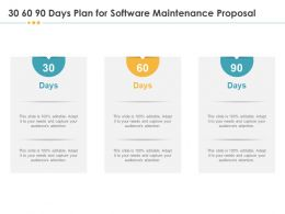 30 60 90 Days Plan For Software Maintenance Proposal Audience Ppt Templates