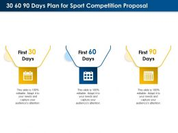 30 60 90 Days Plan For Sport Competition Proposal Ppt Powerpoint Presentation Deck