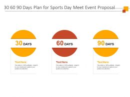 30 60 90 Days Plan For Sports Day Meet Event Proposal Ppt Powerpoint Presentation Example