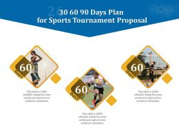 30 60 90 Days Plan For Sports Tournament Proposal Ppt Powerpoint Maker