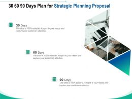 30 60 90 Days Plan For Strategic Planning Proposal Ppt Powerpoint Presentation Styles