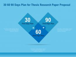 30 60 90 Days Plan For Thesis Research Paper Proposal Ppt File Topics