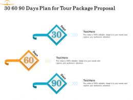 30 60 90 Days Plan For Tour Package Proposal Ppt Powerpoint Presentation Icon