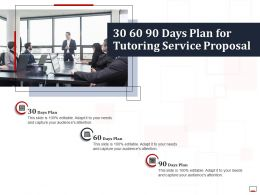 30 60 90 Days Plan For Tutoring Service Proposal Ppt Powerpoint Pictures