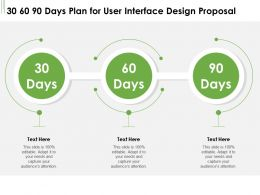 30 60 90 Days Plan For User Interface Design Proposal Ppt Powerpoint Inspiration