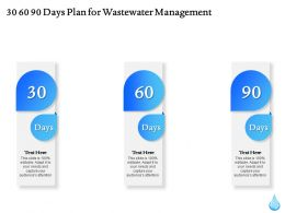 30 60 90 Days Plan For Wastewater Management Ppt File Formats