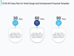 30 60 90 Days Plan For Web Design And Development Proposal Template Ppt Presentation Good