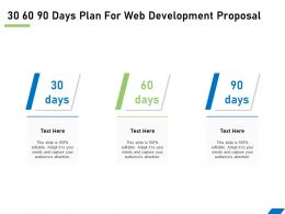 30 60 90 Days Plan For Web Development Proposal Ppt Powerpoint File Topics