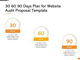 30 60 90 Days Plan For Website Audit Proposal Template Ppt Presentation Visual Aids Styles