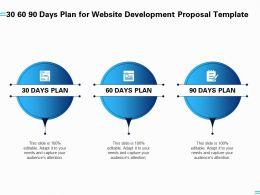 30 60 90 Days Plan For Website Development Proposal Template Ppt Professional Templates