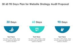 30 60 90 Days Plan For Website Strategy Audit Proposal Ppt Powerpoint Presentation Styles Information