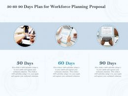 30 60 90 Days Plan For Workforce Planning Proposal Ppt Powerpoint Pictures