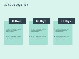 30 60 90 Days Plan Horizontal F810 Ppt Powerpoint Presentation Pictures Icons