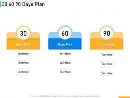 30 60 90 Days Plan Implementing Digital Solutions In Banking Ppt Ideas