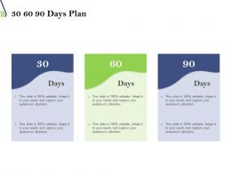 30 60 90 Days Plan Introduction To Dockers And Containers Ppt Powerpoint Presentation