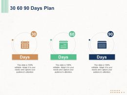 30 60 90 Days Plan L1295 Ppt Powerpoint Presentation Professional Icons