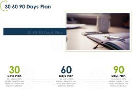 30 60 90 Days Plan L1299 Ppt Powerpoint Presentation Slides Outline