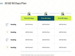 30 60 90 Days Plan L1902 Ppt Powerpoint Presentation Outline Show