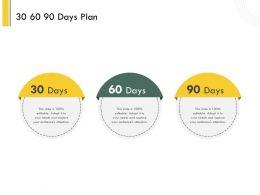 30 60 90 Days Plan L2129 Ppt Powerpoint Presentation Template