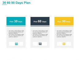 30 60 90 Days Plan L839 Ppt Powerpoint Presentation Show
