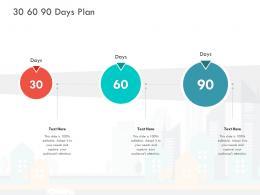 30 60 90 Days Plan Loss Revenue Financials Decline Automobile Company Ppt Deck