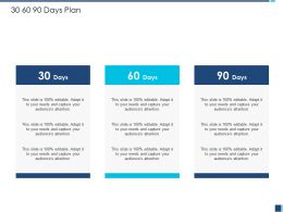 30 60 90 Days Plan M1215 Ppt Powerpoint Presentation Styles Icons
