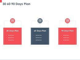 30 60 90 Days Plan M227 Ppt Powerpoint Presentation Portfolio Graphics Template