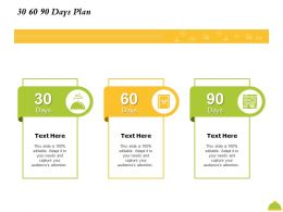 30 60 90 Days Plan M2426 Ppt Powerpoint Presentation Icon Shapes