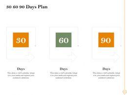 30 60 90 Days Plan M2462 Ppt Powerpoint Presentation Picture