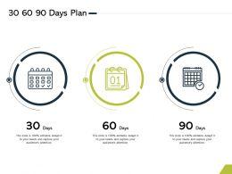 30 60 90 Days Plan M2752 Ppt Powerpoint Presentation Samples