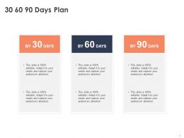 30 60 90 Days Plan Management C1059 Ppt Powerpoint Presentation Diagram Images