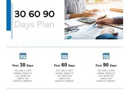 30 60 90 Days Plan Management C1064 Ppt Powerpoint Presentation File Designs