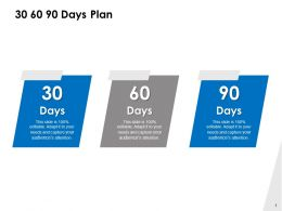 30 60 90 Days Plan Management C1076 Ppt Powerpoint Presentation File Clipart