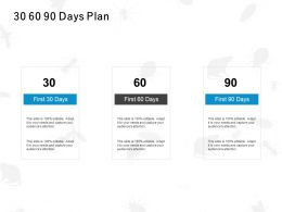 30 60 90 Days Plan Management C1081 Ppt Powerpoint Presentation File Themes