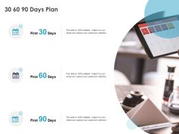 30 60 90 Days Plan Management C1085 Ppt Powerpoint Presentation Gallery Ideas
