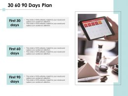 30 60 90 Days Plan Management C1090 Ppt Powerpoint Presentation Inspiration
